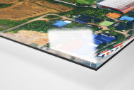 Vogelperspektive Mitr Phol Stadium als Direktdruck auf Alu-Dibond hinter Acrylglas (Detail)