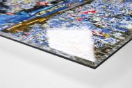 HSV Doppelhalter als Direktdruck auf Alu-Dibond hinter Acrylglas (Detail)