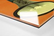 Fan mit Megaphon als Direktdruck auf Alu-Dibond hinter Acrylglas (Detail)