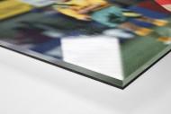 Wassmers Torjubel als Direktdruck auf Alu-Dibond hinter Acrylglas (Detail)