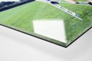 Keegan und Hrubesch als Direktdruck auf Alu-Dibond hinter Acrylglas (Detail)