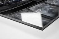 MSV Fans auf der Tribüne als Direktdruck auf Alu-Dibond hinter Acrylglas (Detail)