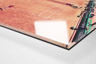 Tennis mit Aussicht als Direktdruck auf Alu-Dibond hinter Acrylglas (Detail)