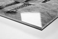 Golferin in Knickerbocker als Direktdruck auf Alu-Dibond hinter Acrylglas (Detail)