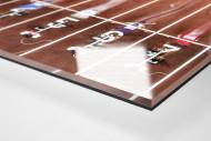 Start beim 60m Sprint als Direktdruck auf Alu-Dibond hinter Acrylglas (Detail)