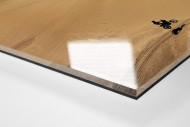 Motorrad im chilenischen Sand (1) als Direktdruck auf Alu-Dibond hinter Acrylglas (Detail)