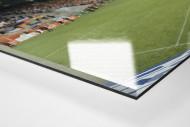 Essen (Georg-Melches-Stadion) als Direktdruck auf Alu-Dibond hinter Acrylglas (Detail)