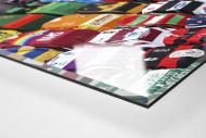 Rugby-Trikots schmücken leere Sitze - Union-Rugby Six Nations Wandbild