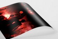 Ponte Preta Fans With Pyro als FineArt-Print