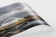Moses-Mabhida-Stadion bei Dämmerung als FineArt-Print