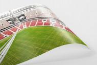 Nationalstadion Warschau von oben als FineArt-Print