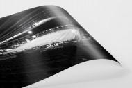 Blick in das St. Andrew's Stadium (s/w) als FineArt-Print