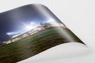 Schwarzwald-Stadion bei Flutlicht (Farbe) als FineArt-Print
