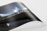 Niederrheinstadion bei Flutlicht (Farbe) als FineArt-Print