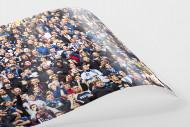 HSV Fans bei der Relegation vor dem Tor als FineArt-Print