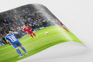 HSV Freistoß ins Glück (Farbe) als FineArt-Print