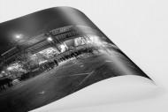 Stadio San Paolo bei Flutlicht (SW) als FineArt-Print