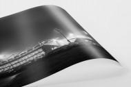 Millerntor bei Flutlicht (Schwarzweiß) als FineArt-Print