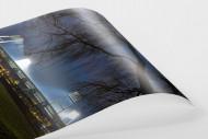 Weserstadion bei Flutlicht (Farbe-Hochformat) als FineArt-Print