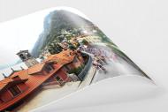 Straße und Panorama bei Lombardei Rundfahrt als FineArt-Print