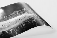 Frankfurter Waldstadion bei Flutlicht als FineArt-Print