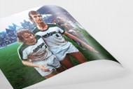 Simonsen und Bonhof - Wandbild Borussia Mönchengladbach