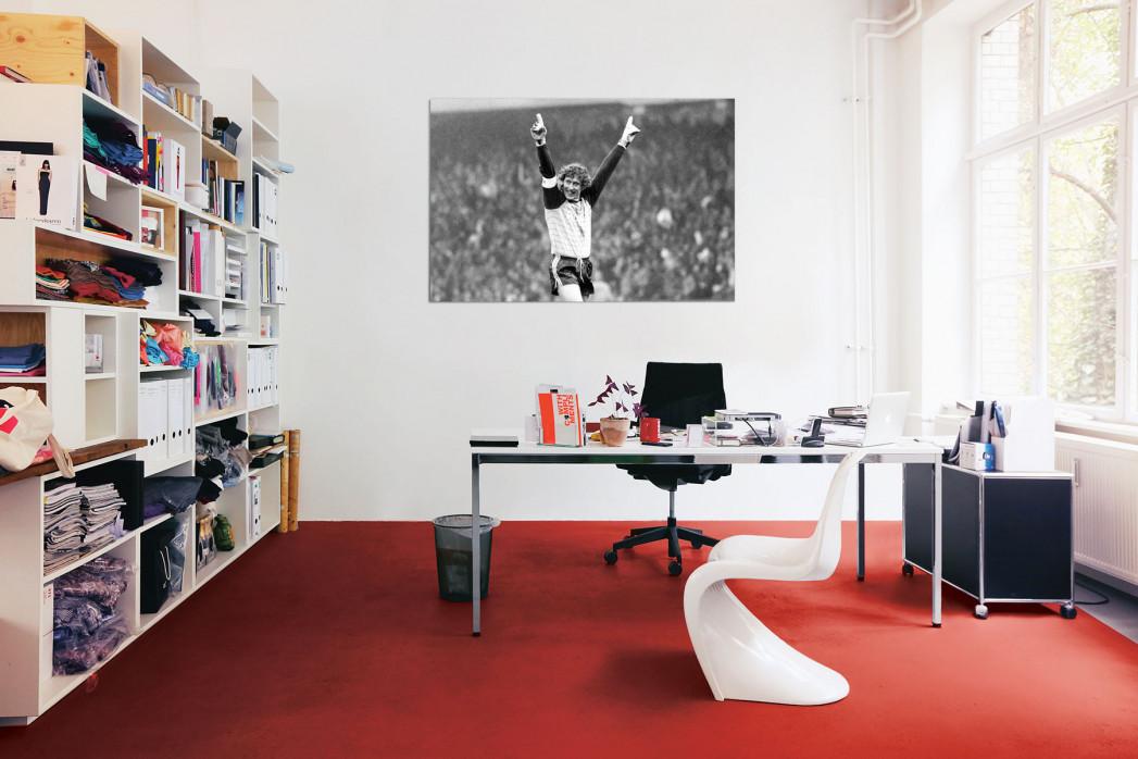 Toni Schumacher Schwarz/weiß-Foto in deinem Büro - 11FREUNDE BILDERWELT