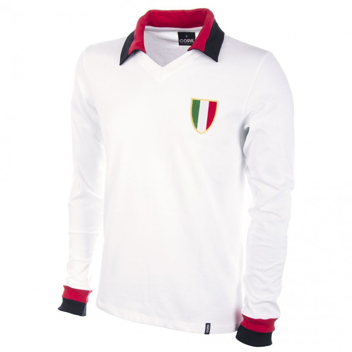 Milan Away 1960's Long Sleeve Retro Football Shirt