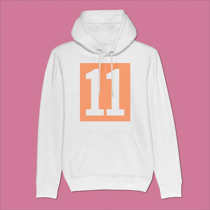 Hoodie - 11 Kasten-Logo (Fairwear & Bio-Baumwolle) - 11FREUNDE Textil