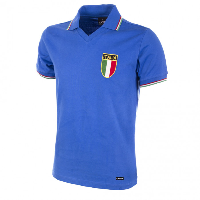 Italy World Cup 1982 Short Sleeve Retro Football Shirt