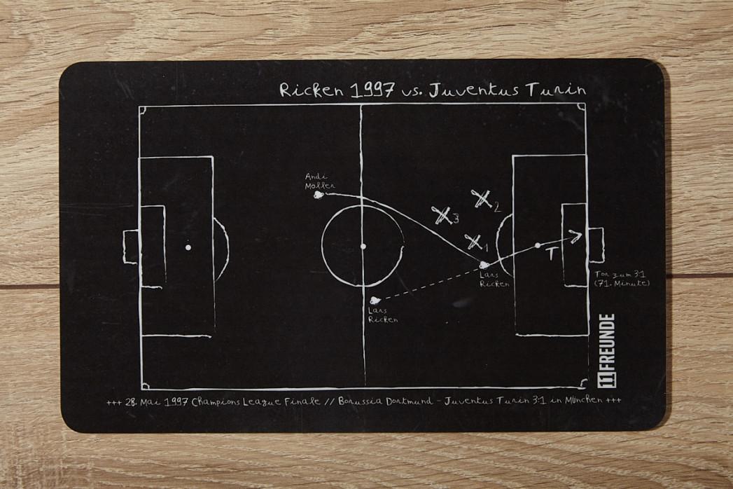 Frühstücksbrettchen: Lars Ricken 1997 Borussia Dortmund vs. Juventus Turin