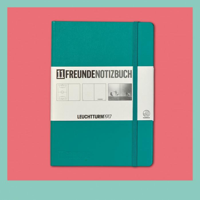 11FREUNDE Notizbuch (Edition 2.0)-Emerald (Smaragdgrün)