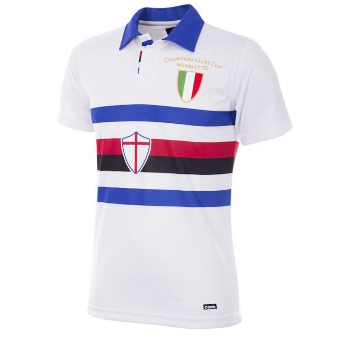 U. C. Sampdoria 1991 - 92 Away Retro Football Shirt