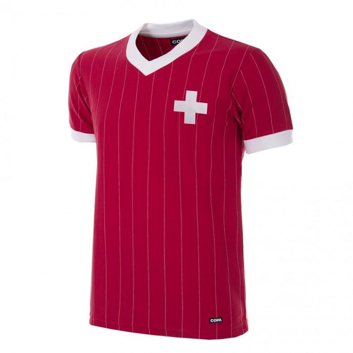 Switzerland 1982 Short Sleeve Retro Football Shirt
