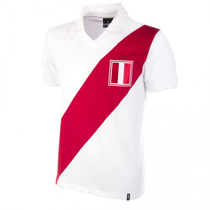 Peru 1970's Short Sleeve Retro Football Shirt