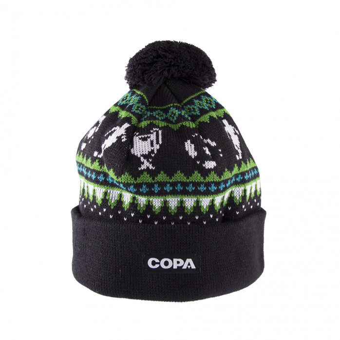 Nordic Knit Beanie | Black-Green-Blue-White