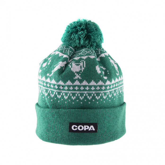 Nordic Knit Beanie | Green-White