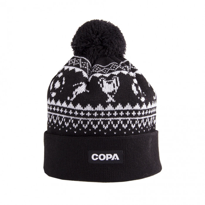 Nordic Knit Beanie | Black-White