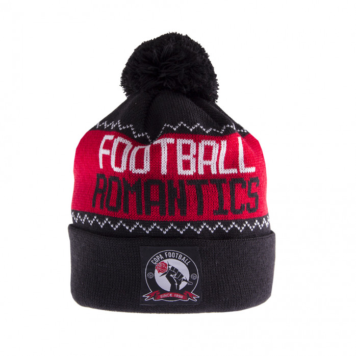 Football Romantics Beanie | Black-White-Red