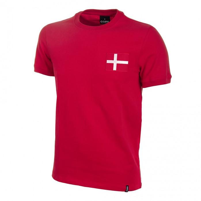 Denmark 1970's Short Sleeve Retro Football Shirt