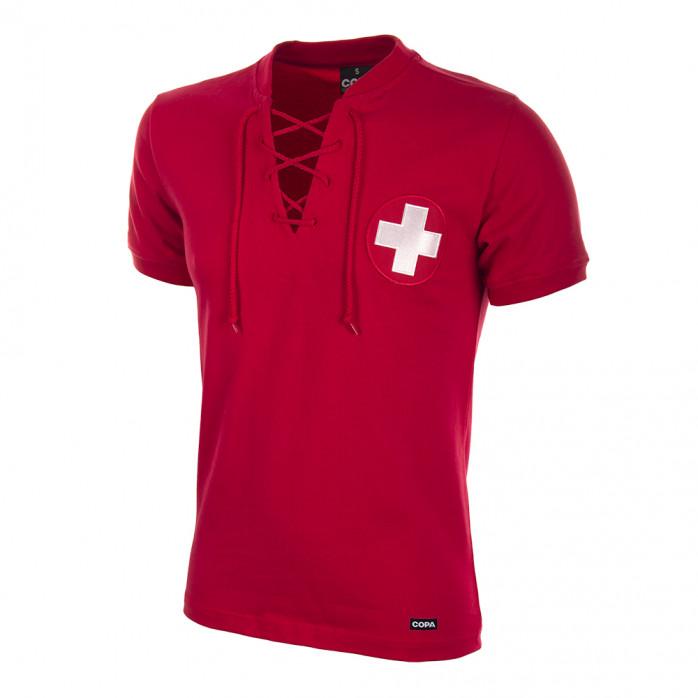 Switzerland World Cup 1954 Short Sleeve Retro Football Shirt