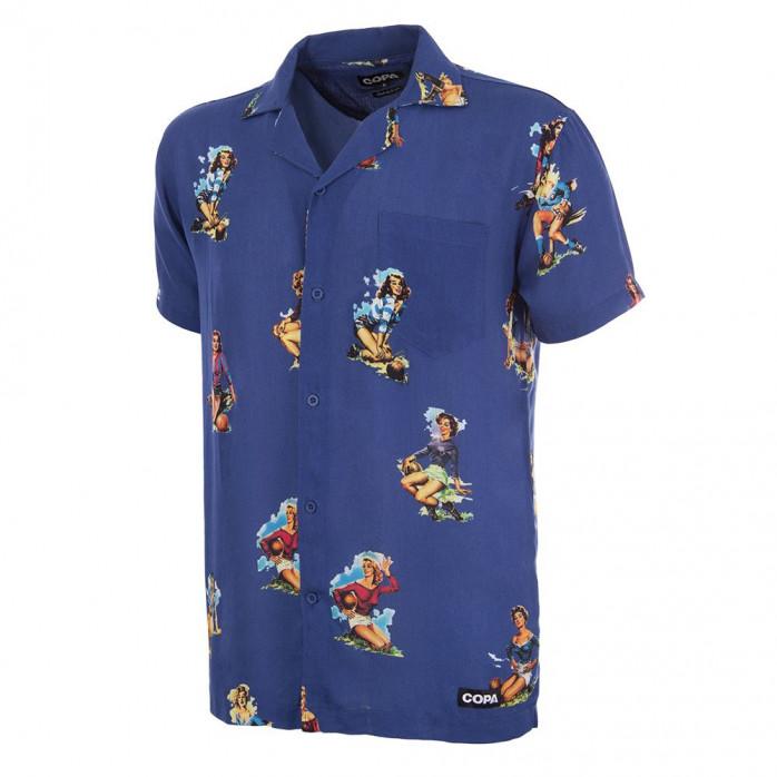 Calcio Donna Camp Collar Shirt (blue)