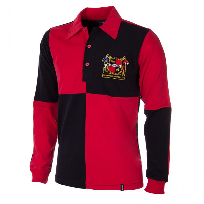Sheffield FC 1950's Long Sleeve Retro Football Shirt