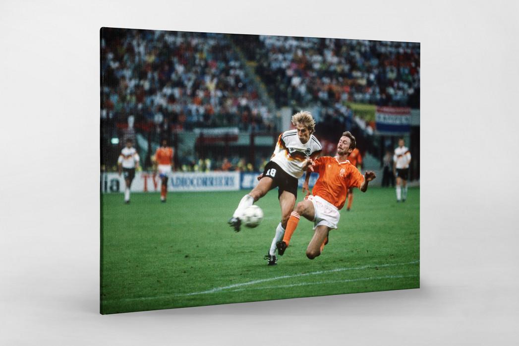 Klinsmann gegen Holland (2) als Leinwand auf Keilrahmen gezogen