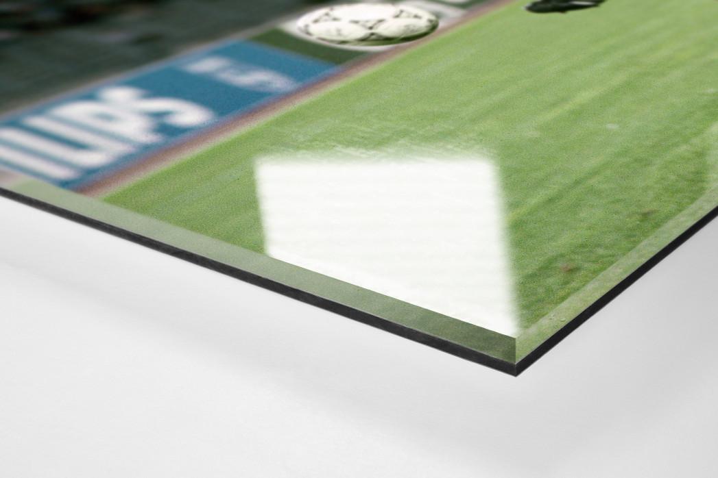Lothar gegen England als Direktdruck auf Alu-Dibond hinter Acrylglas (Detail)