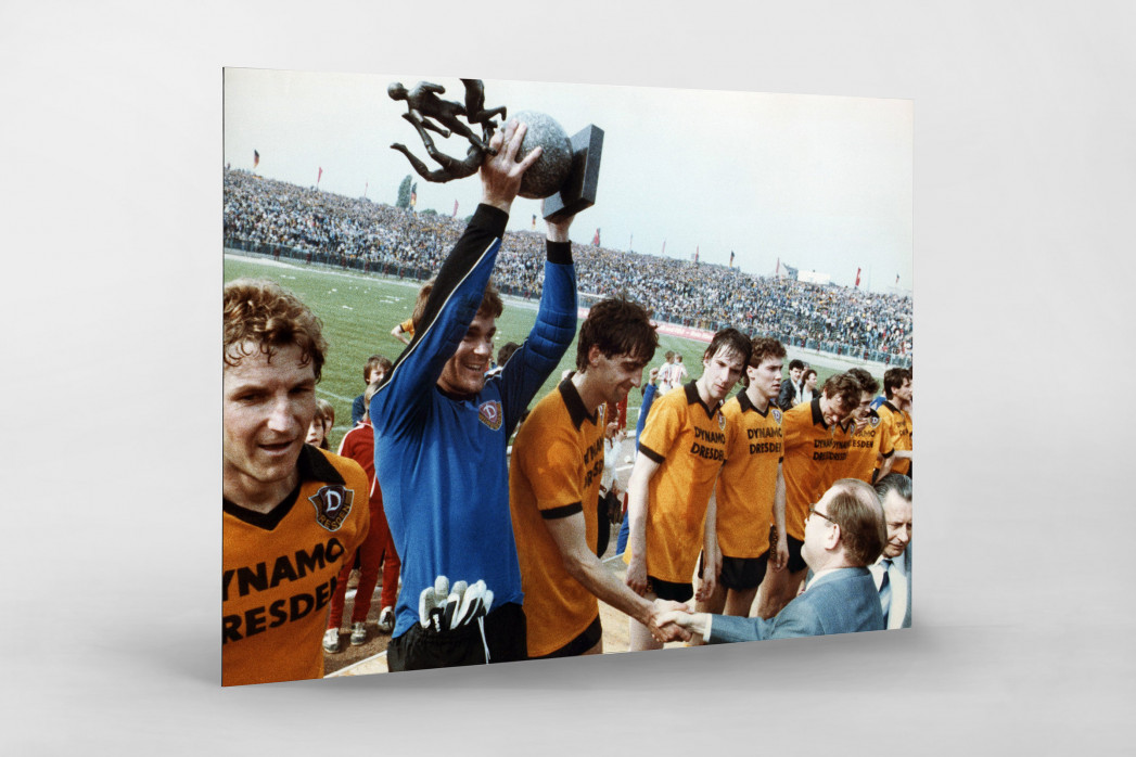Dresden FDGB-Pokalsieger 1984 als auf Alu-Dibond kaschierter Fotoabzug