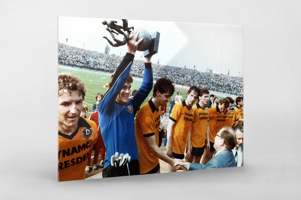 Dresden FDGB-Pokalsieger 1984 als Direktdruck auf Alu-Dibond hinter Acrylglas