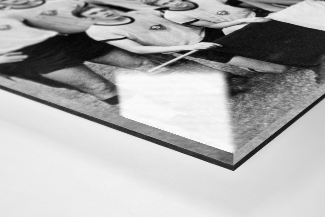 Dresdens Meister 1971 als Direktdruck auf Alu-Dibond hinter Acrylglas (Detail)