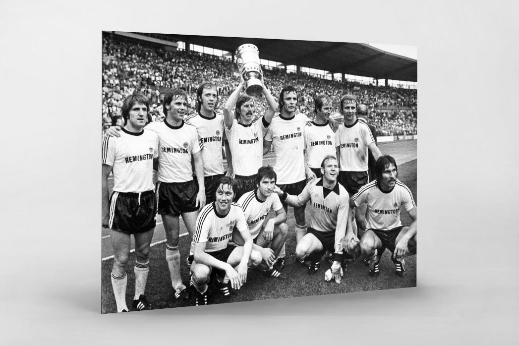 Frankfurter Pokaljubel als auf Alu-Dibond kaschierter Fotoabzug