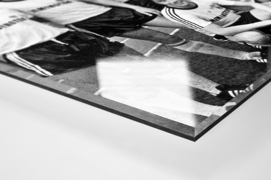 Frankfurter Pokaljubel als Direktdruck auf Alu-Dibond hinter Acrylglas (Detail)